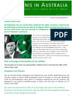 Pakistanis in Australia Vol1issue 6 2011