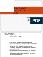 Analysis of Car Market in Reference of TATA