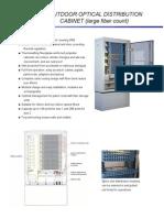 Fiber Distribution Outdoor Cabinet