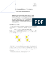 Thierry Gensane and Philippe Ryckelynck- On the Maximal Inflation of Two Squares