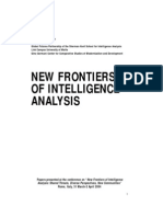 New Frontiers of Intelligence Analysis