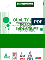 quality audit in engro foods