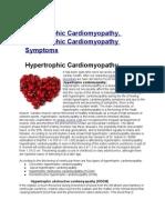 Hypertrophic Cardiomyopathy, Hypertrophic Cardiomyopathy Symptoms