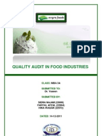 qualty audit in engro foods