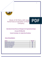 Study of HR Policy With Respect to Performance Evaluation of Multinational Company