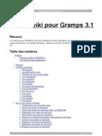 Manuel Wiki Pour Gramps 3.1