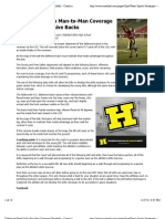 "Preview of ""Defensive-Back Drills For Man Coverage (Football) - Coach and AD"""