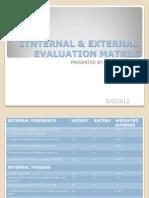 Itnternal & External Evaluation Matrix