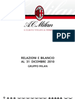 AC Milan Bilancio (Accounts and Report) 2010