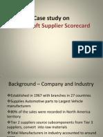 Metal Craft Supplier Scorecard