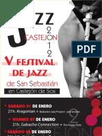 Jazz Castejón de Sos - flyer V Festival de San Sebastián