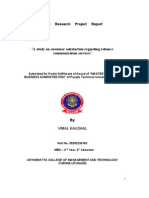 Project Report Reliance Communications Customer Satisfaction