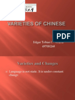 Varieties of Chinese