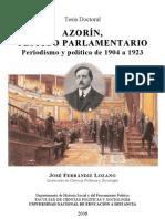 Azorín - testigo parlamentario y politico