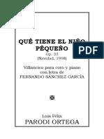 QUÉ TIENE EL NIÑO PEQUEÑO, Op. 33