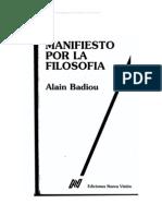 Alain Badiou - Manifiesto por la Filosofía