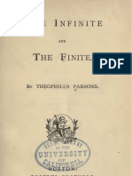 Theophilus Parsons THE INFINITE AND THE FINITE Boston 1872