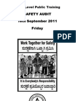 Safety Audit Pub Trg 2011