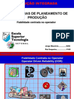 Apresent - Fiabilidade centrada no operador Impressão