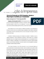 Curso de Extensão na PUC-Campinas aborda a Reportagem Auxiliada por Computador