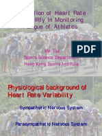 Application of Heart Rate Variability in Monitoring Fatigue of Athletes