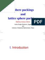 Mathieu Dutour Sikiric- Sphere packings and lattice sphere packings