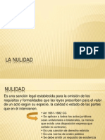 SEGUNDA Semana -Nulidad, Modal Ida Des, Patrimonio
