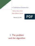 Mathieu Dutour Sikiric- Exhaustive Combinatorial Enumeration