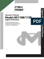 HD110B115B_Manual Multi Tester