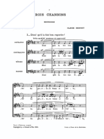 Debussy 3 Chansons de Charles Orlans SATB