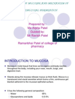 Physiology of Mucosae and Mechanism of Transmucosal Permeation Ppt