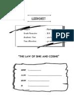 WORKSHEET_sine and Cosine Law