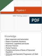 SMO Algebra I