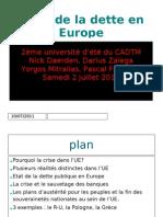 Crise de La Dette en Europe