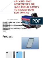 iPhone4 case analysis using Autodesk Moldflow Software