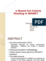 Zone Based Ant Colony Routing in ppt