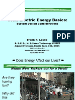Solar Electric System Design
