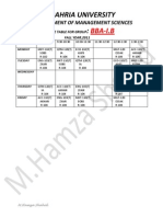 BBA-I.B Time Table