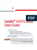 TOSHIBA Satellite A70.75 Series User's Guide