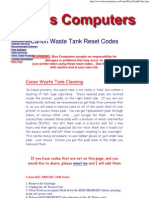 Canon Waste Tank Codes