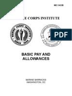 3422B(Basic Pay and Allowances)