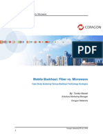 Ceragon White Paper - Mobile Backhaul; Fiber vs Microwave