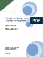 Teorije Modernog Upravljanja _ Teorija Kontigencije