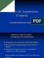 A SANITARIO Proyecto de Arquitectura Pintos 2008