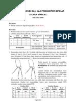 Identifikasi Transistor Bipolar Secara Manual