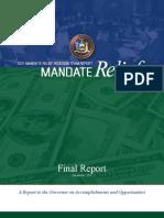 FInal Mandate Relief Report
