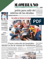 El Colombiano Primera Pagina Dic 26 2011