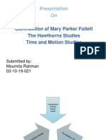 Contribution of Mary Parker Follette