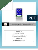 Historical Background of Organizational Behavior