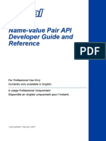 PayPal NVP API Developer Guide